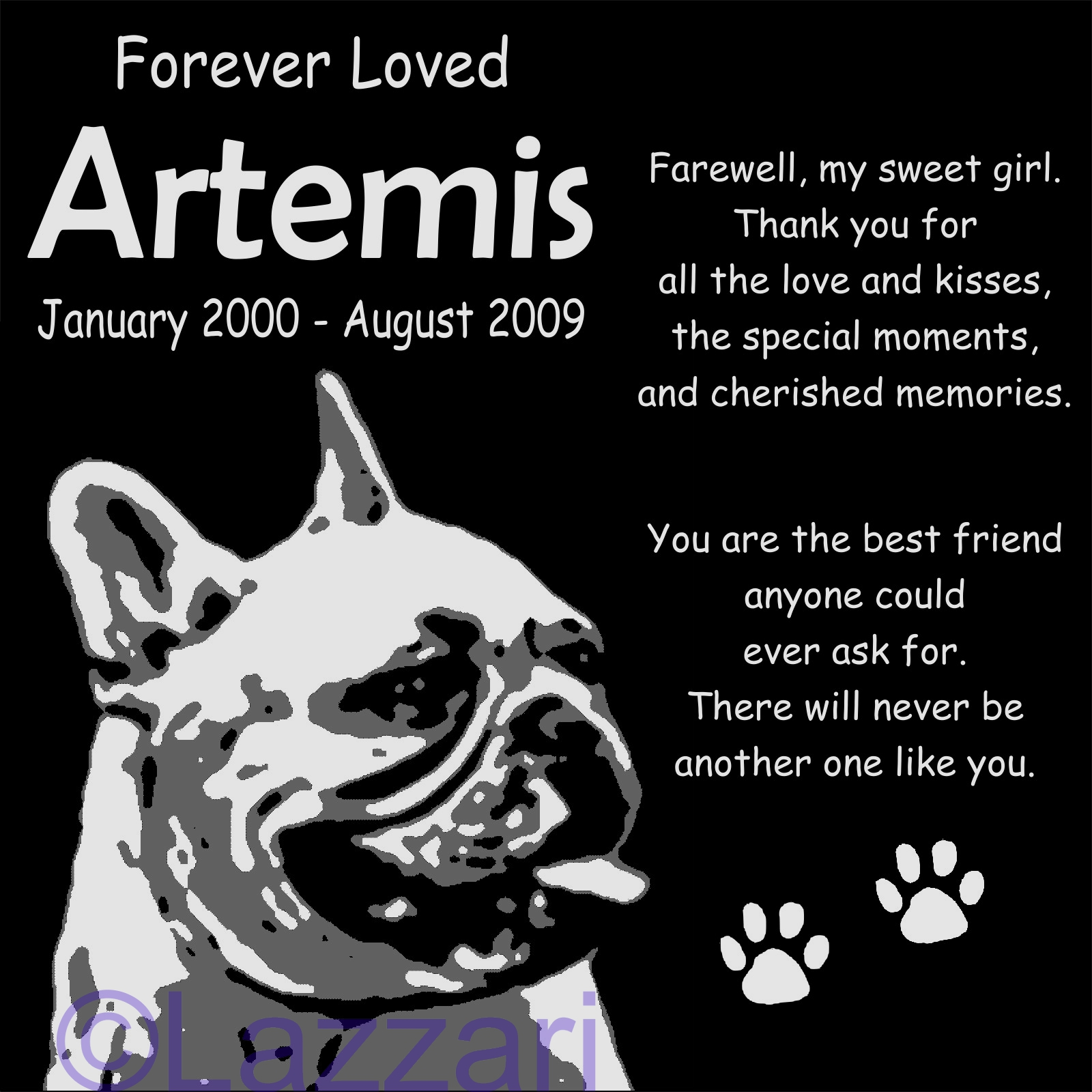 Details About Personalized French Bulldog Pet Memorial 12x12 Customized Granite Grave Marker B